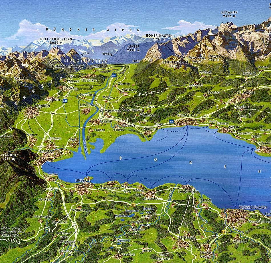 Bodensee wetter aus landschlacht for Bodensee karte
